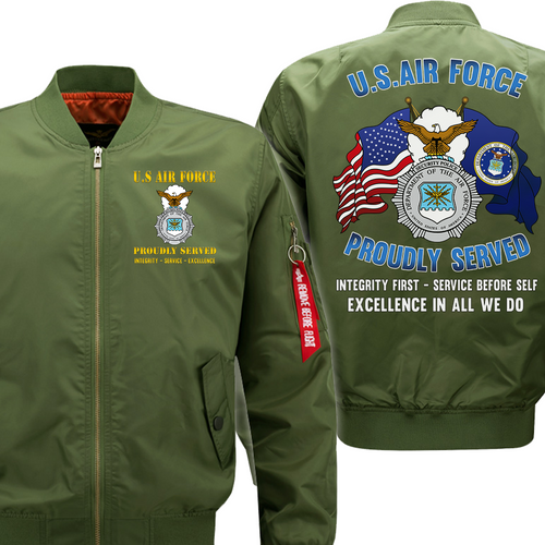 US Air Force Veteran Security Police Flight Bomber Jacket