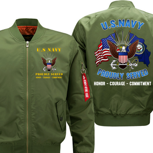 US Navy Veteran Flight Bomber Jacket