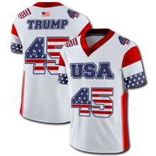 Load image into Gallery viewer, Trump 45 Football Jersey