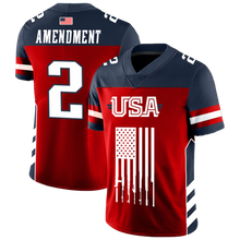 Load image into Gallery viewer, Team USA 2nd Amendment Football Jersey