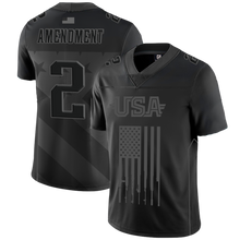 Load image into Gallery viewer, Team USA 2nd Amendment Football Jersey - Blackout Edition