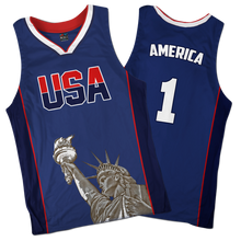 Load image into Gallery viewer, America #1 Basketball Jersey
