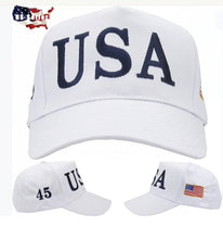 Load image into Gallery viewer, Trump 45 USA Hat