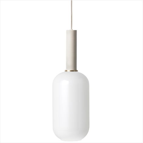 Socket Pendant High + Opal Shade Tall