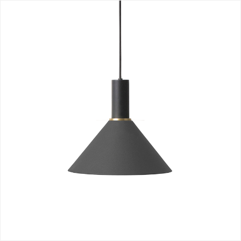 Socket Pendant Low + Cone Shade