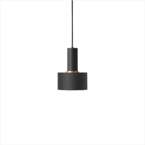 Socket Pendant Low + Disc Shade