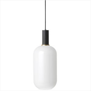 Socket Pendant Low + Opal Shade Tall