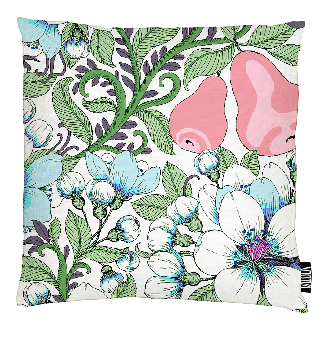 Perry Cushion Cover - Pink by Vallila