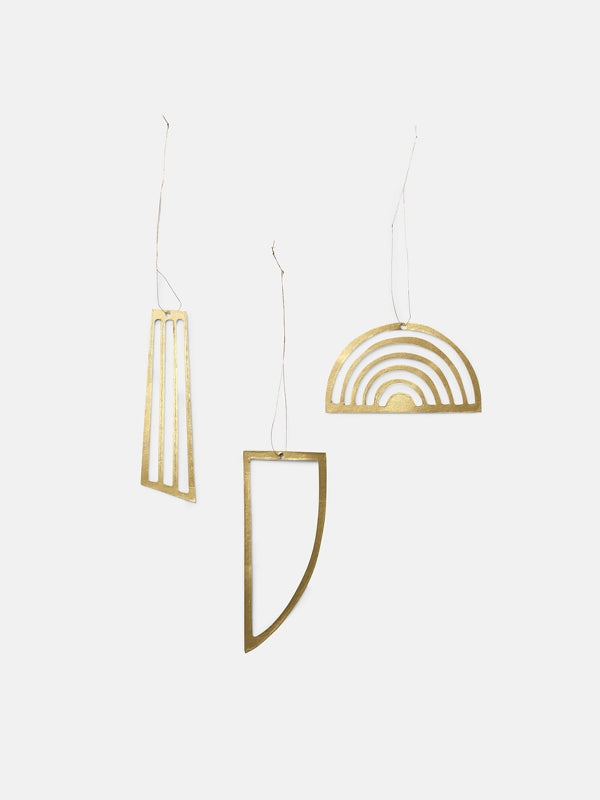 Golden Ornaments (set of 3) by ferm LIVING