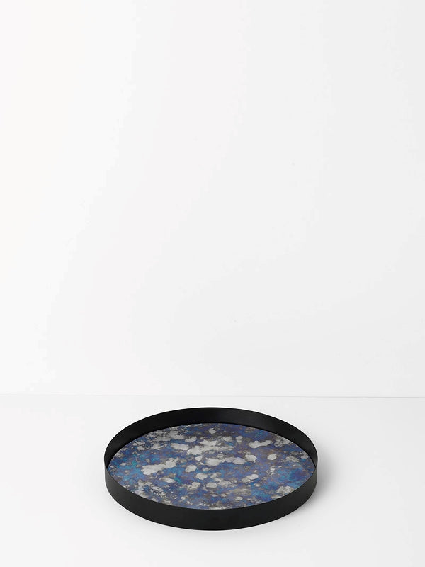 Coupled Tray Round - Blue - Large by fermLIVING