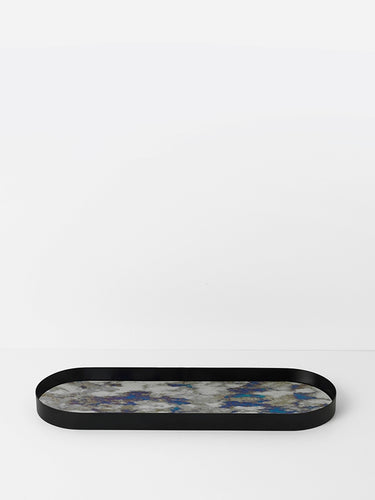 Coupled Tray Oval - Blue - Large by fermLIVING