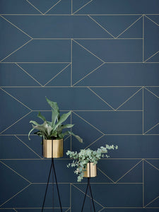 Brass Hexagon Pot - Large by fermLIVING