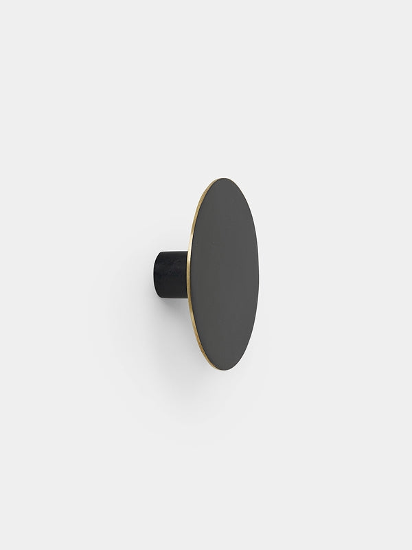Hook Black Brass - Large by fermLIVING