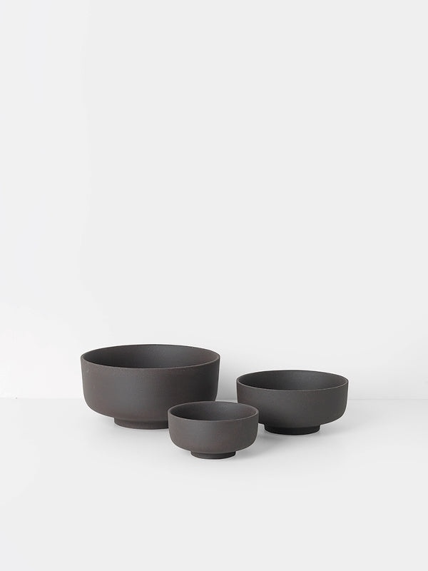 Sekki Bowls (set of 3) - Charcoal by fermLIVING