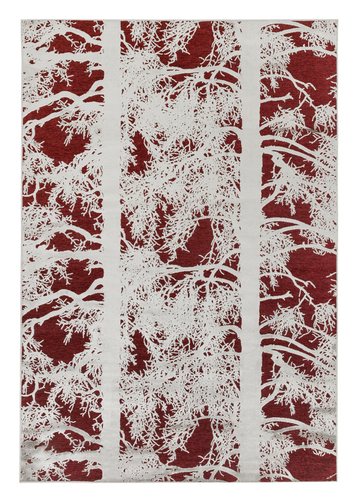 Kelohonka Effect Rug - Red by Vallila