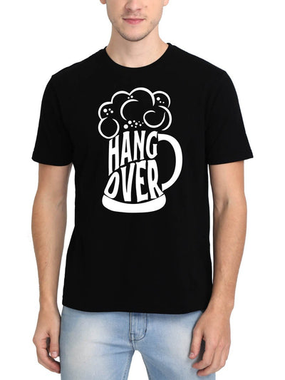 Hangover Beer Mug Men's Black Half Sleeve Round Neck T-Shirt - DrunkenMonk