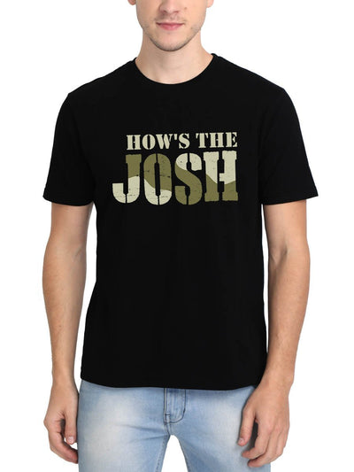 How's The Josh Men's Black Hindi Movie Round Neck T-Shirt - DrunkenMonk