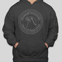 Hoodie | Molehill Mountain Seal of Approval | Charcoal Grey Heather