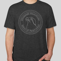 Short Sleeve T-Shirt | Molehill Mountain Seal of Approval | Charcoal Grey Heather