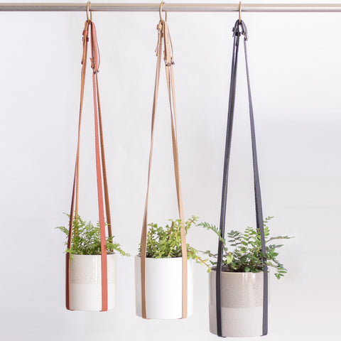 BASE ROOTS Adjustable Vegan Leather Plant Hanger