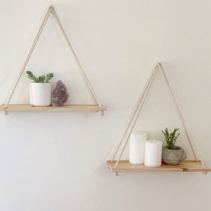Hanging Wall Shelves [Set of 2]