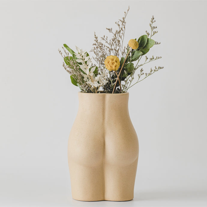 Body Vase - Tall Bottom (Sandy Nude)