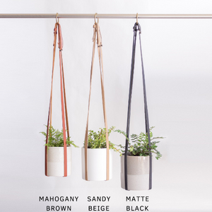 Plant Hanger | Adjustable Vegan Leather | Sandy Beige