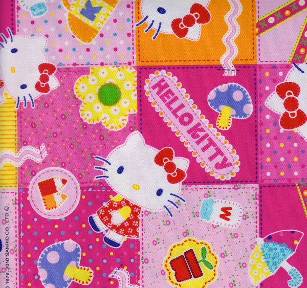 Hello Kitty Pink Patchwork