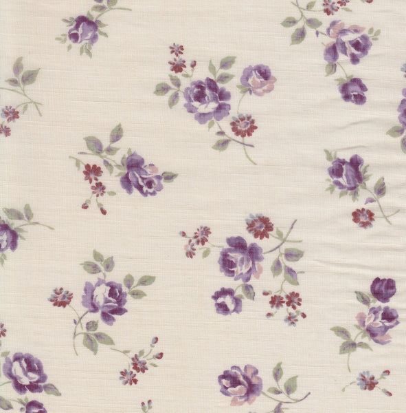 32 inch Partial Yard Floral Print on Cream