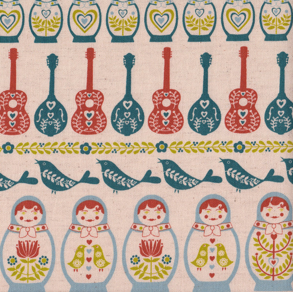 Russian Dolls with Guitars and Mandolins
