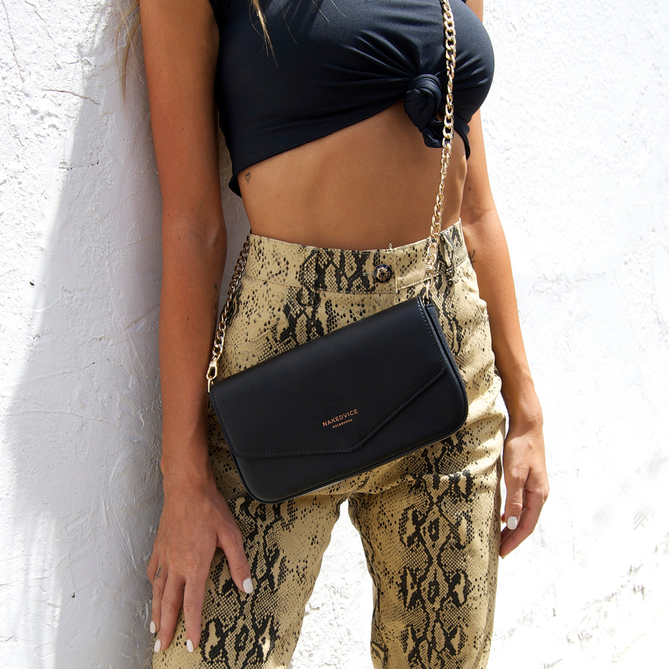 THE GISELLE GOLD SIDE BAG