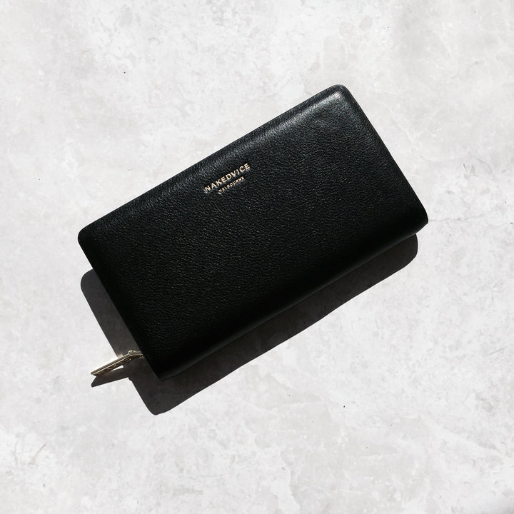 THE DION PEBBLED GOLD WALLET - PRE ORDER