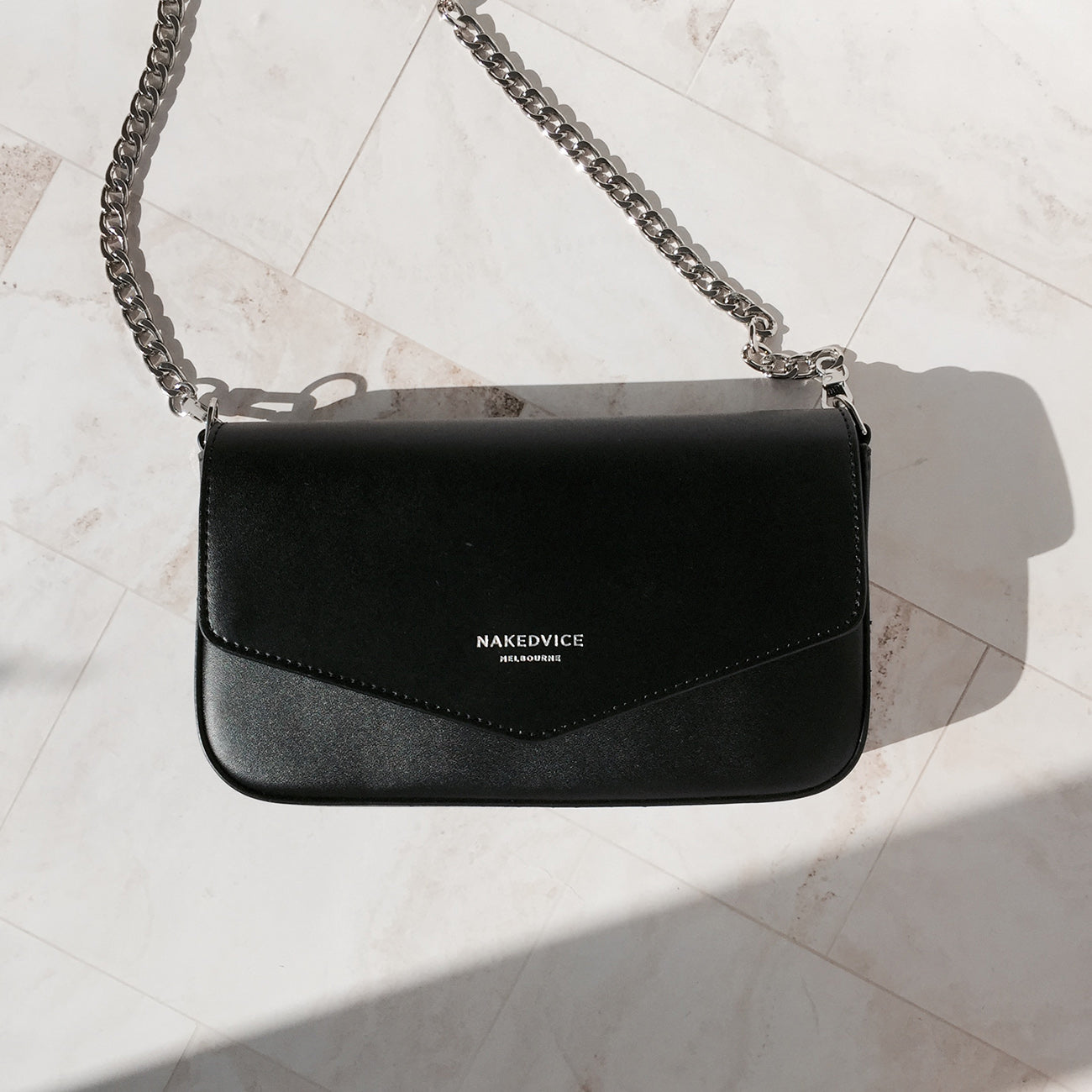 THE GISELLE SILVER SIDE BAG