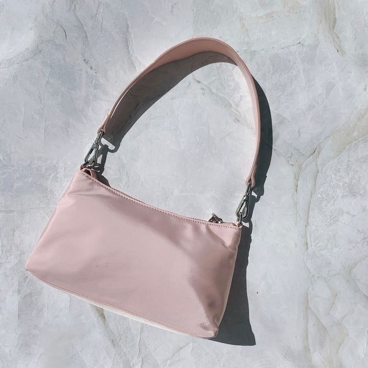 THE CHRISTY PINK NYLON BAG