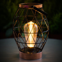 Load image into Gallery viewer, Industrial Chic Geo Battery Powered Table Lantern