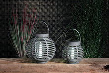 Load image into Gallery viewer, Rattan Style Solar Lantern - Large