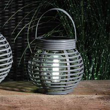 Load image into Gallery viewer, Rattan Style Solar Lantern - Small
