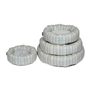 Coastal Stripe Round Dog Bed