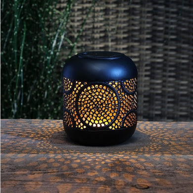 Moroccan Style Global Solar Metallic Lantern