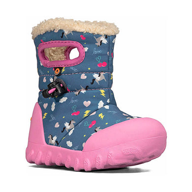 Bogs Footwear B-Mock Pegasus Baby Snow Boots Dark Blue Multi