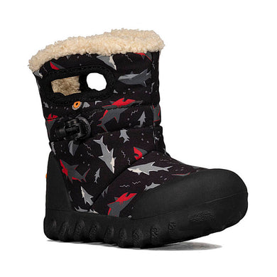 Bogs Footwear B-Mock Sharks Baby Snow Boots Black Multi