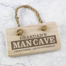 Load image into Gallery viewer, Personalised Man Cave Wooden Sign