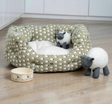 Load image into Gallery viewer, Sheep Print Oval Dog Bed