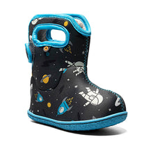 Load image into Gallery viewer, Bogs Footwear Baby Bogs Spaceman Snow Boots Dark Grey Multi
