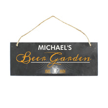 Load image into Gallery viewer, Personalised Beer Garden Slate Hanging Sign