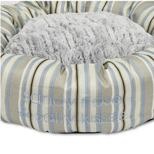Load image into Gallery viewer, Coastal Stripe Round Dog Bed