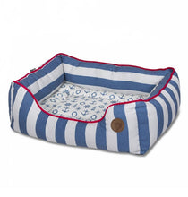 Load image into Gallery viewer, Nautical Square Dog Bed
