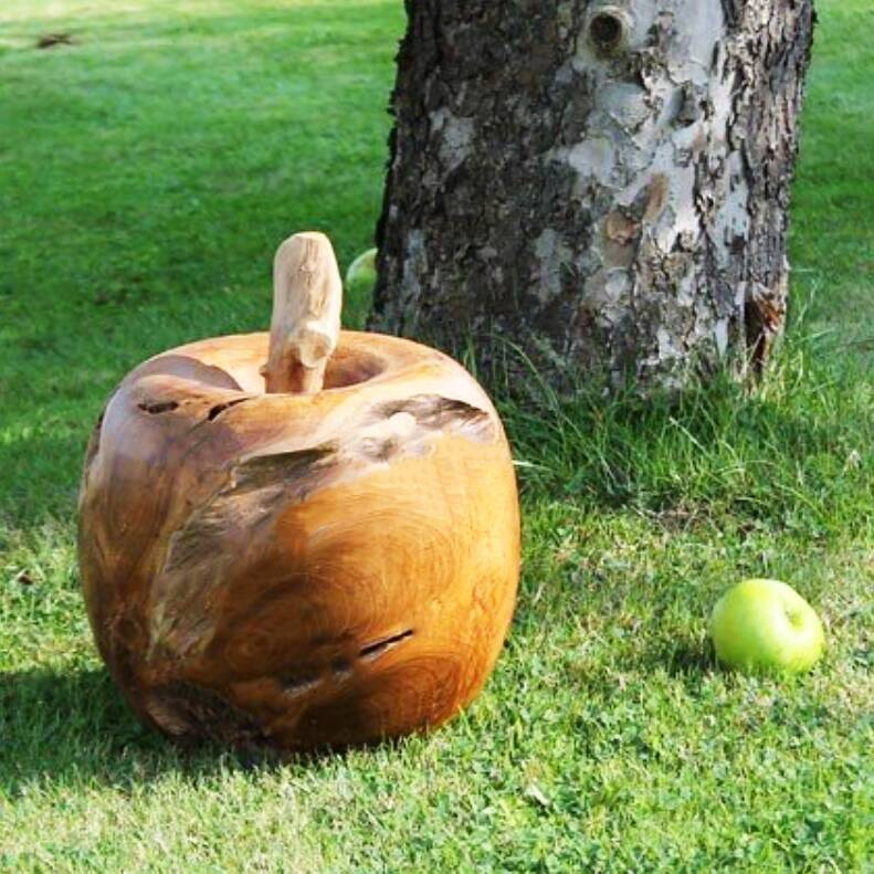Wooden Apple Ornament