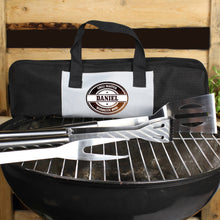 Load image into Gallery viewer, Personalised Stamp Stainless Steel BBQ Kit