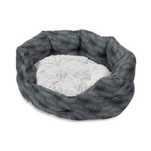 Load image into Gallery viewer, Feather Print Oval Dog Bed